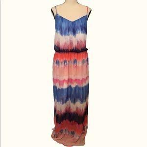 Bisou Bisou | maxi tank dress watercolor stripes